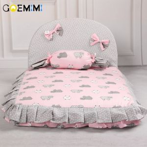 Cheap Chip לכלב 2019 Dog Lovely Bed Comfortable Warm Pet House Print Fashion Cushion for pet Sofa Kennel Top Quality Puppy Mat Pad Bed
