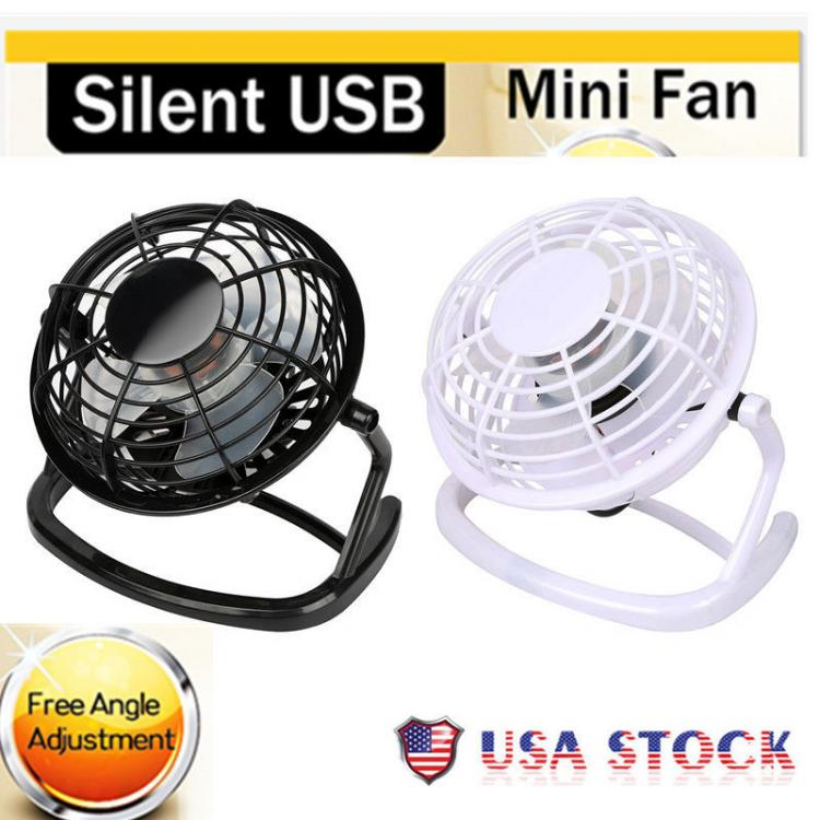 Cheap Chip מוצרי חשמל  Mini Portable Super Quiet USB Desk Fan Home Office Electric Computer Air Cooler